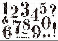 DIYスクラップブッキング/poアルバム用の番号透明クリアシリコンスタンプ/シール装飾クリアスタンプ