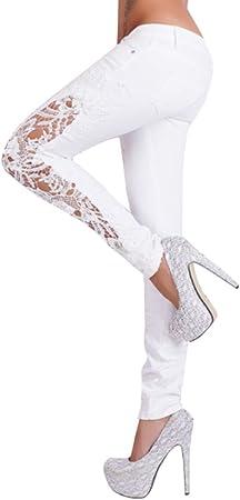 MINXINWY Pantalones Vaqueros Mujer Slim fit, Pantalones ...