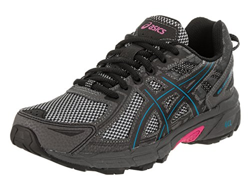 ASICS Women's Gel-Venture 6 Running Shoes, 8M, Black/Island Blue/Pink Glow