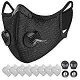 HONYAO Reusable Dust Face M Earloop Dust M, Protective M with Activated Carbon Filter and Valves for Allergy Motorcycle Cycling Running Outdoor Activities