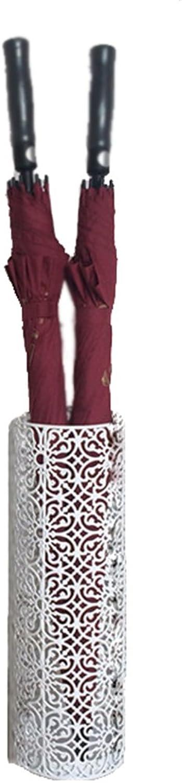 NYDZ 17X50cm(6.7X19.7 Inches) Indoor White Retro Umbrella Stand Round Cast Iron