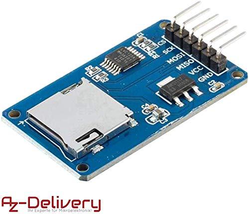 AZDelivery SPI Reader Lector de Tarjeta SD TF modulo Memory Card Shield para Arduino con ebook Gratis!