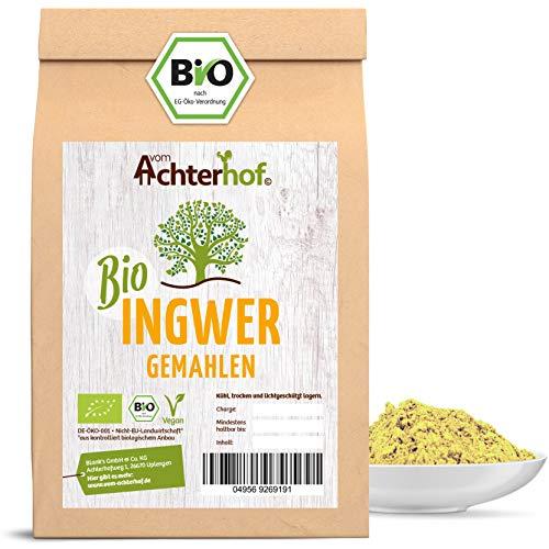 Bio Ingwerpulver 500g   Ingwer gemahlen   Ingwerwurzel gemahlen perfekt fuer Ingwertee Ingwertinktur Ingwerwasser oder zum Kochen