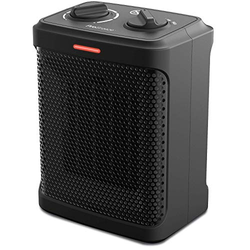 Pro Breeze Space Heater – 1500W Electric Heater with 3 Operating Modes and Adjustable Thermostat - Space Heater for Office, Bedroom and Under Desk - Black