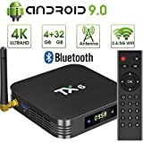 pendoo Android 9.0 TV Box, TX6 Android TV Box 4GB DDR3 32GB EMMC Dual WiFi 2.4G+5G Bluetooth Quad Core 3D 4K Ultra HD H.265 USB3.0 Android TV Box