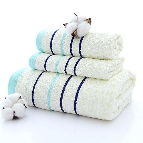 ZHFC handtücher und badetücher drei stück baumwolle plain geschenk werbeartikel 70 * 140 cm 35 * 75 cm