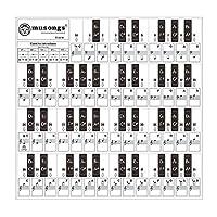 Benkeg 取り外し可能なピアノキーボードステッカー37/49/61/88キーキーボードミュージカルステーブで透明子供向けピアノ学習練習