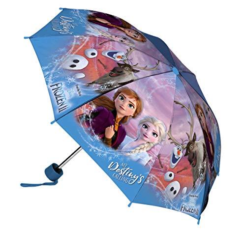 Disney Frozen Ombrello Pieghevole, Bambina, Multicolore
