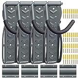 LYCAON Bike Rack per Il Garage (Ultimate Gray) Bicicletta Ganci di Montaggio a Parete Indoor Sistema di stoccaggio Verticale Tiene Fino a 68 lb con Vassoio Pneumatici e Viti (4)