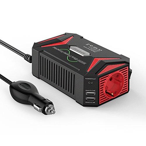Reiner Sinus wechselrichter 12v auf 230v/BESTEK 300W stromwandler 12 auf 230/steckdose Auto Adapter/Auto wechselrichter,Inverter,inkl. Kfz Zigarettenanzünder Stecker