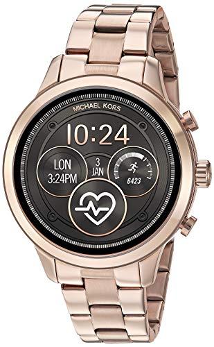 Michael Kors Women's Access Runway Stainless Steel Plated touchscreen Watch Strap,...