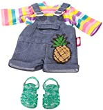 Götz 3402930 Kombination Tropical - Puppenbekleidung Gr. XL - 4-teiliges Bekleidungs- und...