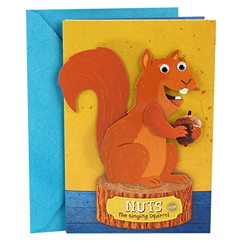 """Hallmark Funny Father's Day Card with Music and Motion (Singing and Dancing Squirrel, Plays""""Get Up Offa That Thing"""" by James Brown)"""