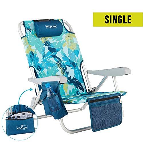 Lightspeed Outdoors Reclining Beach Chair | Lightweight Folding Chair (Banana Palm)