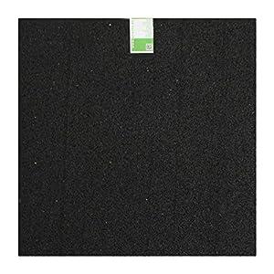 acerto 31699 Base de la lavadora hecha de granulados de goma - 60 x 60 x 0.6cm * Robusta * Alta densidad * Uso versátil | Base de la lavadora con amortiguación de vibraciones alfombra de granulado