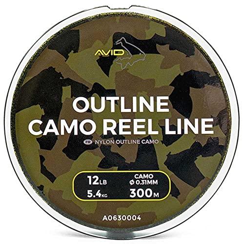 Avid Carp Outline Camo Reel Line (18lb 300m)