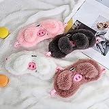 YXYL Máscara para Dormir 4 unids/Set 3D Cerdo máscara de Ojos para Dormir con los Ojos vendados Sombra Cubierta Suave para Viajar Dormir Sombra de Ojos Regalos de Fiesta Antifaz para Dormir