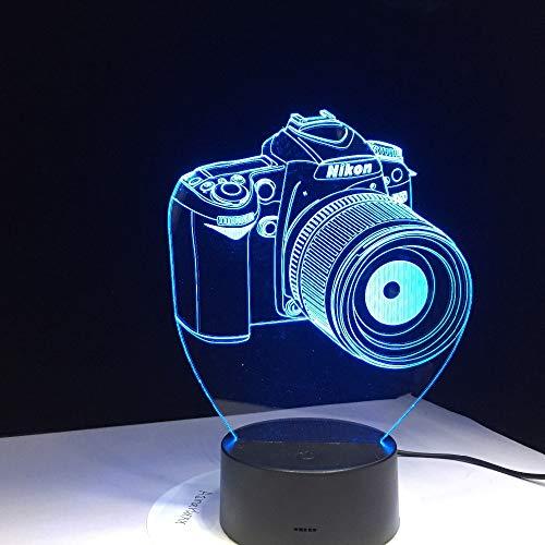 Cámara ilusión lámpara lámpara de Mesa luz Nocturna romántica lámpara de Noche lámpara de Regalo Novedad acrílico Entretenimiento