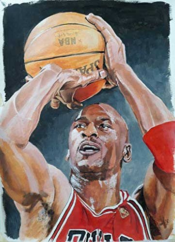ALTRUB Large Size (Canvas Size: 17.7 x 13.8 inch) DIY 5D Diamond Painting Kits for Adults and Kids, Full Round Drill Crystal Rhinestone Embroidery Arts Craft for Wall Decor - Basketball Super Star
