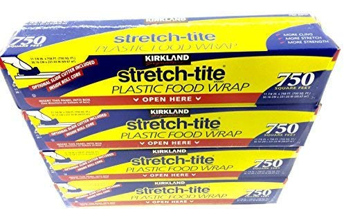 4 Pack - Kirkland Signature Stretch Tite Plastic Food Wrap HUGE 11 7/8' X 758 ft.