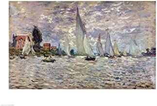 Posterazzi The Boats or Regatta at Argenteuil c.1874 Poster Print by Claude Monet (36 x 24)