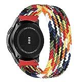 MroTech Compatible con Huawei Watch GT 2 46 mm/GT 2e/GT2 Pro Correa Nailon 22mm Pulseras Repuesto para Samsung Galaxy Watch 3 45mm/Gear S3 Frontier/Galaxy 46mm Banda Nylon Woven Sport Loop-Vistoso/XS
