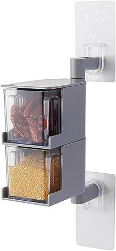YXQ  Tuyau d'ABS acier inoxydable 2 3 4 plancher cuisine Boîte d'assaisonneHommest Taille  18cm   24.5cm   31cm étagère (Couleur   2-layer)