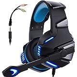 Auriculares De Juegos For PS4 Xbox One Over Ore Ear Gaming Auriculares con Micrófono Estéreo...