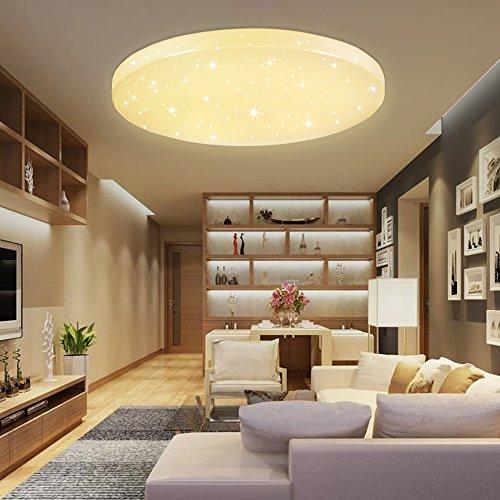 VINGO®16W LED Deckenleuchte Warmweiß Starlight Rund Korridor Deckenlampe Schlafzimmer Badezimmer