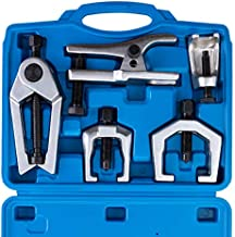 Orion Motor Tech 5pc Ball Joint Separator, Pitman Arm Puller, Tie Rod End Tool Set for Front End Service, Splitter Removal Kit