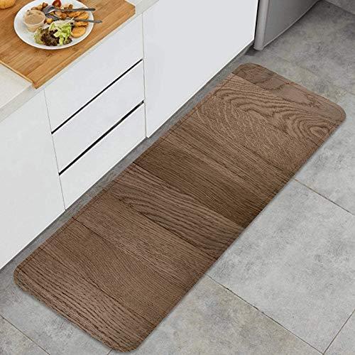 PUIO Juegos de alfombras de Cocina Multiusos,Textura Madera Fondo Cerrar Plantilla vacía,Alfombrillas cómodas para Uso en el Piso de Cocina súper absorbentes y Antideslizantes