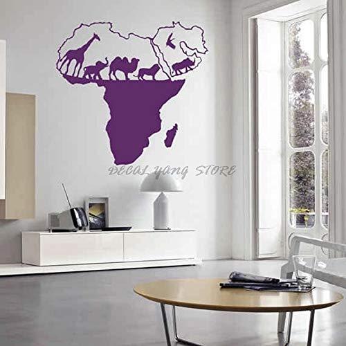 Mapa de la sala de estar mapa de éter acrílico pegatinas de pared tridimensionales oficina decoración del hogar mapa del mundo pegatinas de pared para habitación de niños