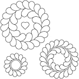 Quilting Creations Feather Circles Quilting Stencil Set, 7'/5.5'/4', 3 Pack