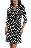 MISS MOLY Sommerkleid Damen Wickelkleid Gepunktetes Kleider Polka Dots Schwarz X-Small