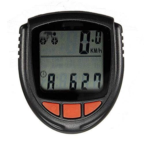 ZSM Bici Computer Bicycle Wired Wired LCD LCD Computer tachimetro contachilometri (Colore: Nero, Dimensione: Taglia Unica) YMIK (Color : Black, Size : One Size)