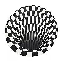 HWQJR推視3Dビジュアルイリュージョンカーペット光学イリュージョン印刷エリアラグ床マット滑り止めドアマット家のリビングルームの装飾毛布,03,160*160cm
