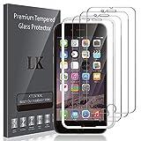 LK Compatible con iPhone 6 Plus / 6s Plus Protector de Pantalla,3 Pack,9H Dureza Cristal Templado, Equipado con Marco de Posicionamiento,Vidrio Templado Screen Protector,LK-X-56