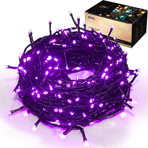 Luci natalizie per interni ed esterni 35m 320 LEDs con 8 modalità di memoria estensibile Stringa Luci Decorazione all'aperto per giardino alberi di natale domestici festa di nozze halloween - viola