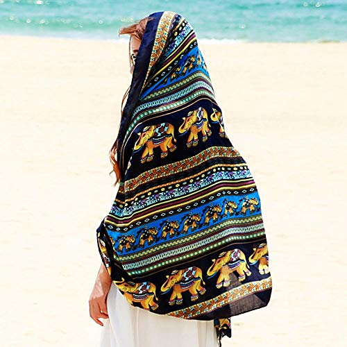 None Brand Damen Cardigan Schal Sommer Sonnenschutz Boho Beachwear Blue Baby Elephant