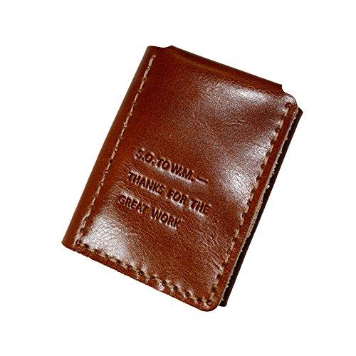 Cartera de piel vegetal para hombre vintage The Secret Life of Walter Mitty con nombre personalizado, bolso de regalo para novio y marido (naranja)