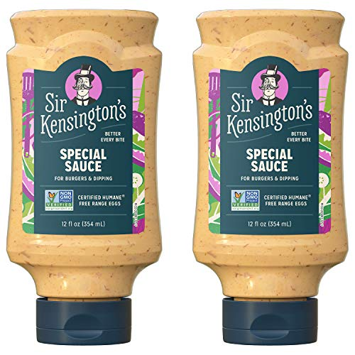 Sir Kensington's Mayonnaise, Special Sauce, Gluten Free, Non- GMO Project Verified, Certified Humane Free Range Eggs, Shelf-Stable, 12 oz pack of 2