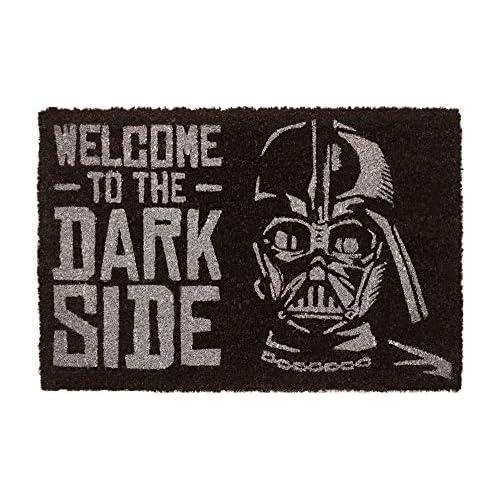 Erik   Zerbino Ingresso casa Originale Star Wars, Welcome to The Dark Side, Fabbricato in Fibra di Cocco e con Una Base in PVC Antiscivolo, 40x60 cm