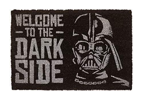 """ERIK - Felpudo entrada casa """"Bienvenido al lado Oscuro"""", Star Wars (40 x 60 cm)"""