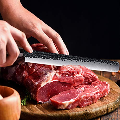 12 inch Slicing Carving Knife by Findking-Dynasty series-3 layer 9CR18MOV Clad Steel w/octagon Handle Brisket Knife Ham Knives