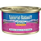 Natural Balance Original Ultra Whole Body Health Wet Cat Food, Chicken, Salmon & Duck Formula, 3 Ounce Can (Pack Of 24)