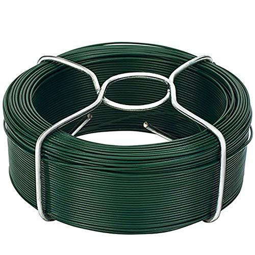Amagabeli Garden Home 6 X 50M Cavo Metallico Rivestito di Plastica - 1.15mm - Filo Ferro Plastificato Verde WR8