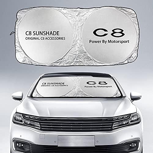 Parasol Coche Delantero Parabrisas de coches cubierta de sombra solar compatible con Citroen C4 Cactus Picasso C5 C3 C1 C2 C4L C6 C8 VTS Berirclingo Jumpy Xsara Nemo Accesorios protección UV