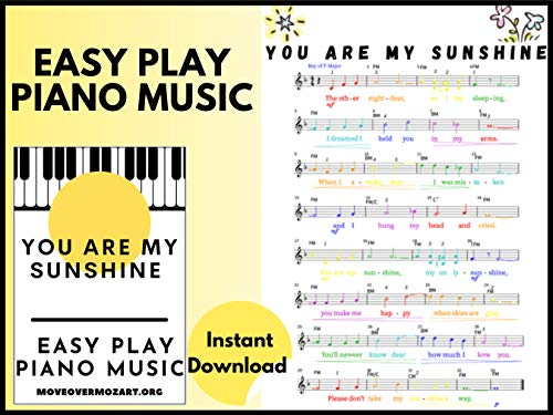 You Are My Sunshine: Easy Play Piano Songs (English Edition)