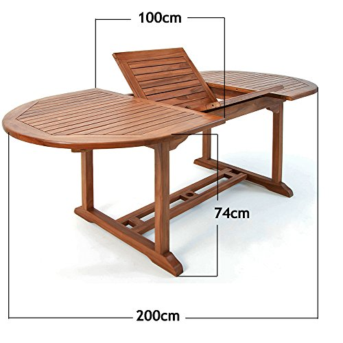 Casaria Sitzgruppe Vanamo 6+1 FSC®-zertifiziertes Eukalyptusholz klappbar 7-TLG Tisch Sitzgarnitur Holz Gartenmöbel Garten Set - 4