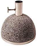 Esschert Design Sonnenschirmständer, Sonnenschirmfuß granito in grau, 11,5 kg, Ø Rohr innen: 3,5 cm, Fuß Ø ca. 25 cm